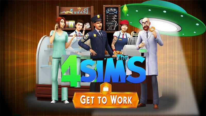 how to get to work sims 4